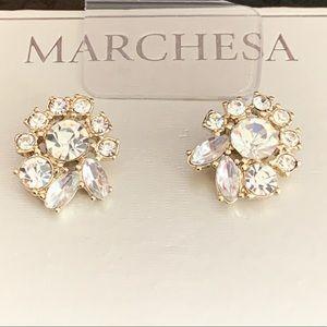 MARCHESA Crystal Cluster Earrings NWT! LAST ONE!